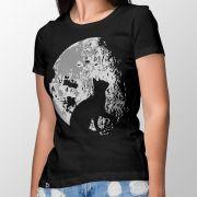 Camiseta Lua Felina - Feminino