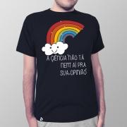 Camiseta Masculina Ciência e Opinião