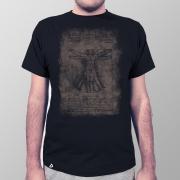 Camiseta Masculina Homem Vitruviano Preto