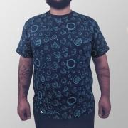 Camiseta Masculina Total Sistema Solar Minimalista
