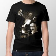 Camiseta Nikola Tesla - Masculino