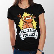 Camiseta Protegido por Luci - Feminino