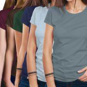 Combo 6 Camisetas Básicas - Feminino