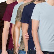 Combo 6 Camisetas Básicas - Masculino