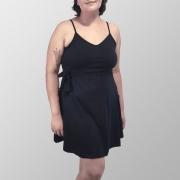 Vestido Alcinha Liso Preto
