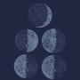 Camiseta Baby Look Fases da Lua
