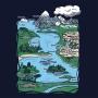 Camiseta Baby Look Formações Geográficas