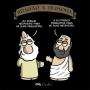 Camiseta Baby Look Religião vs. Filosofia