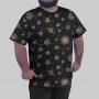 Camiseta Sistema Solar Monocromático