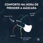 Máscara Lisa Vermelho