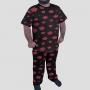 Pijama Camiseta Akatsuki Calça Estampada