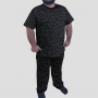 Pijama Camiseta Constelações Calça Estampada