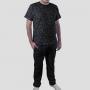 Pijama Camiseta Constelações Calça Lisa