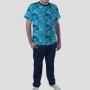 Pijama Camiseta Oceanografia Calça Lisa