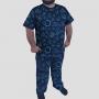 Pijama Camiseta Sistema Solar Minimalista Calça Estampada