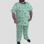 Pijama Camiseta Yoshi Calça Estampada