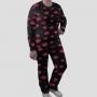 Pijama Manga Longa Akatsuki Calça Estampada