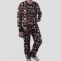 Pijama Manga Longa Luci Calça Estampada