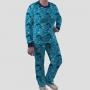 Pijama Manga Longa Oceanografia Calça Estampada