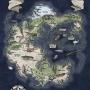 Pôster Mapa de Pangeia