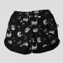 Shorts de Algodão Total Gato Cães e Gatos Preto