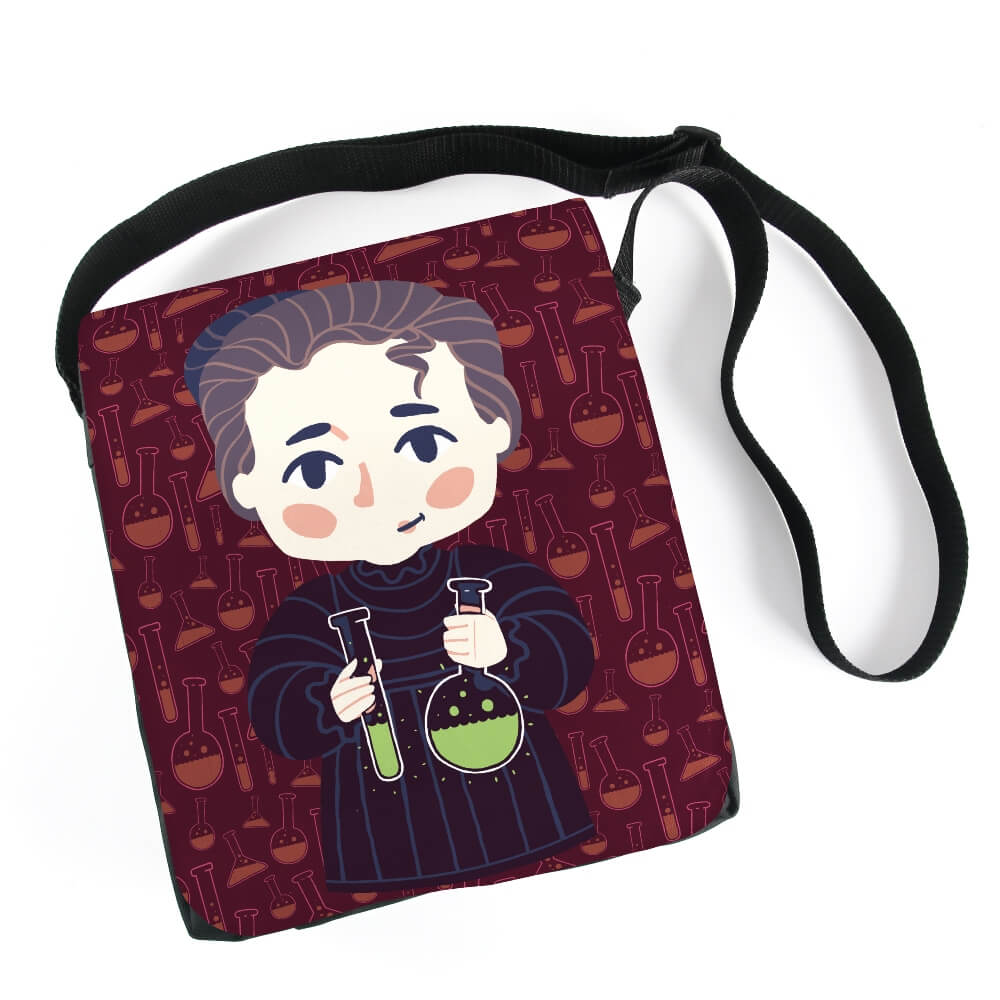 Bolsa Carteiro Marie Curie Chibi