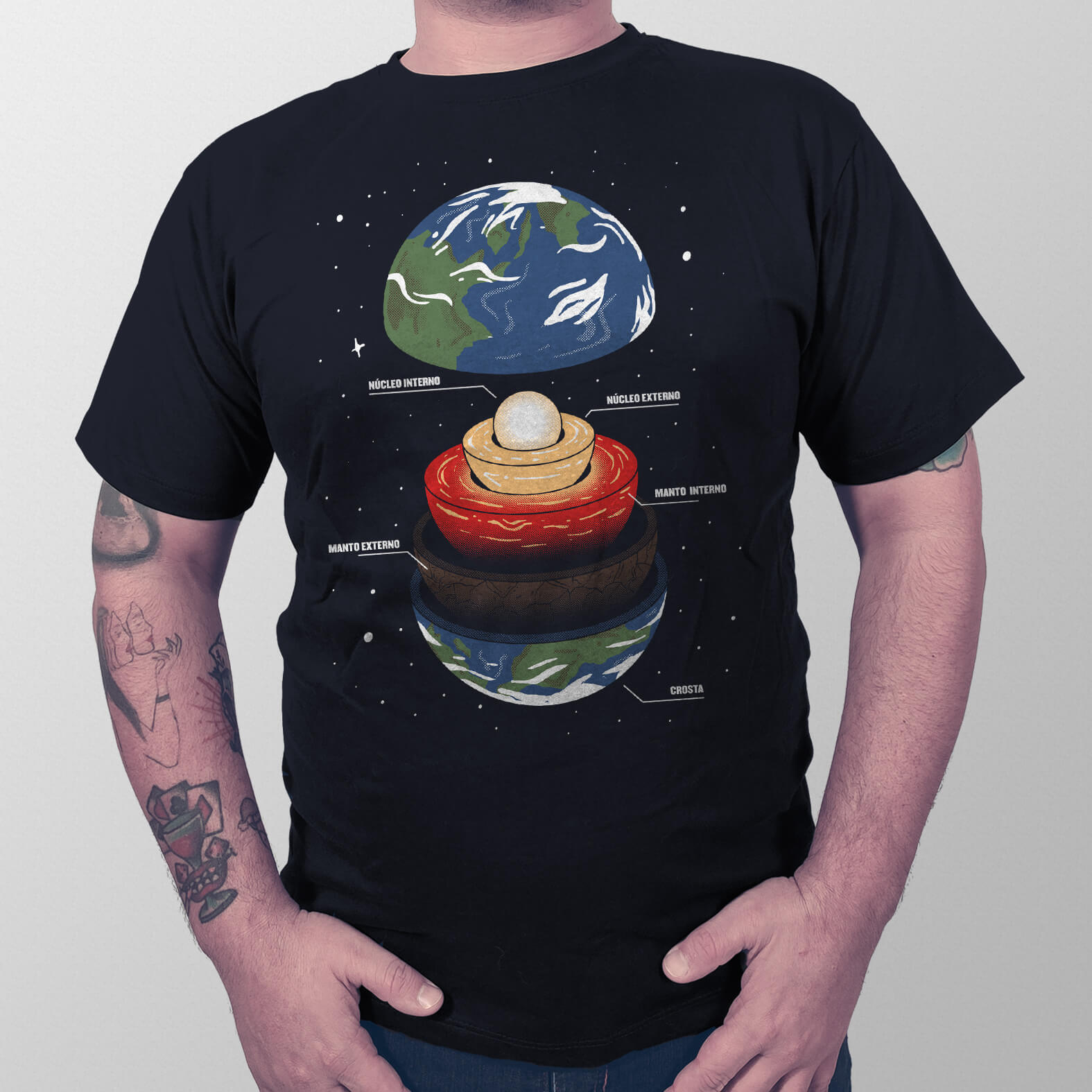 Camiseta Anatomia da Terra