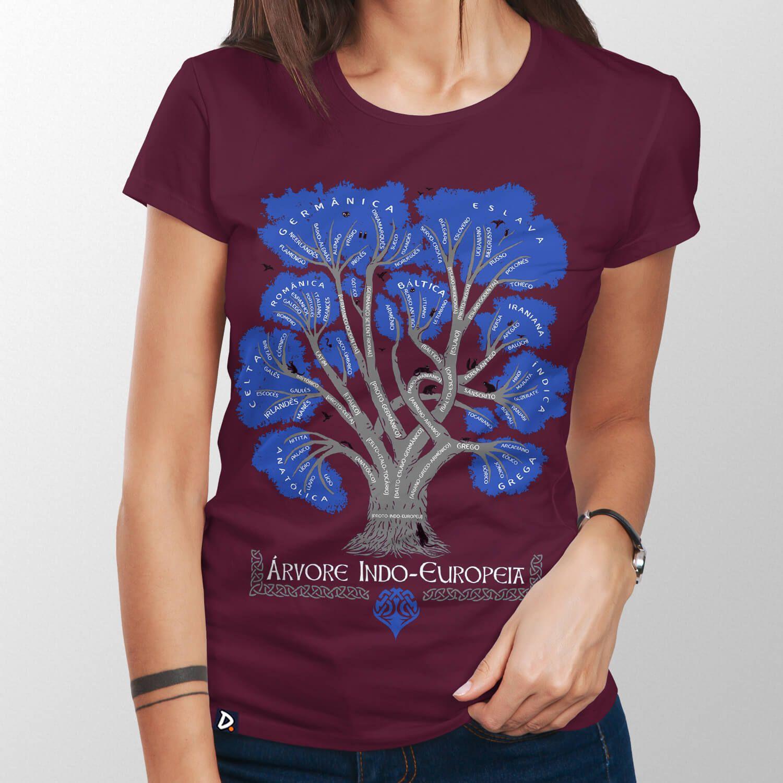 Camiseta Árvore Indo-Europeia - Feminino
