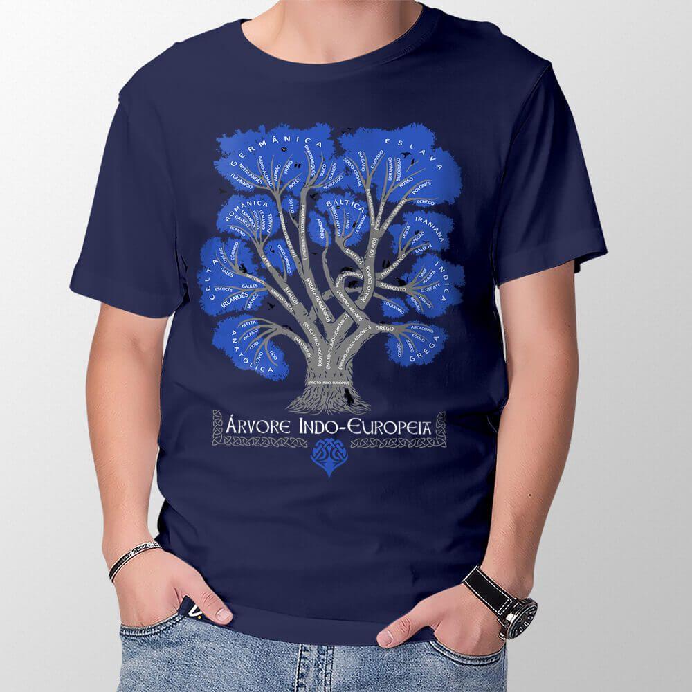 Camiseta Árvore Indo-Europeia - Masculino