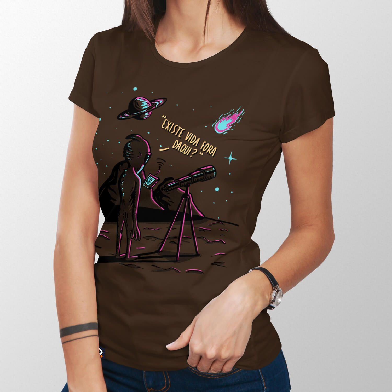 Camiseta Astrobiologia - Feminino
