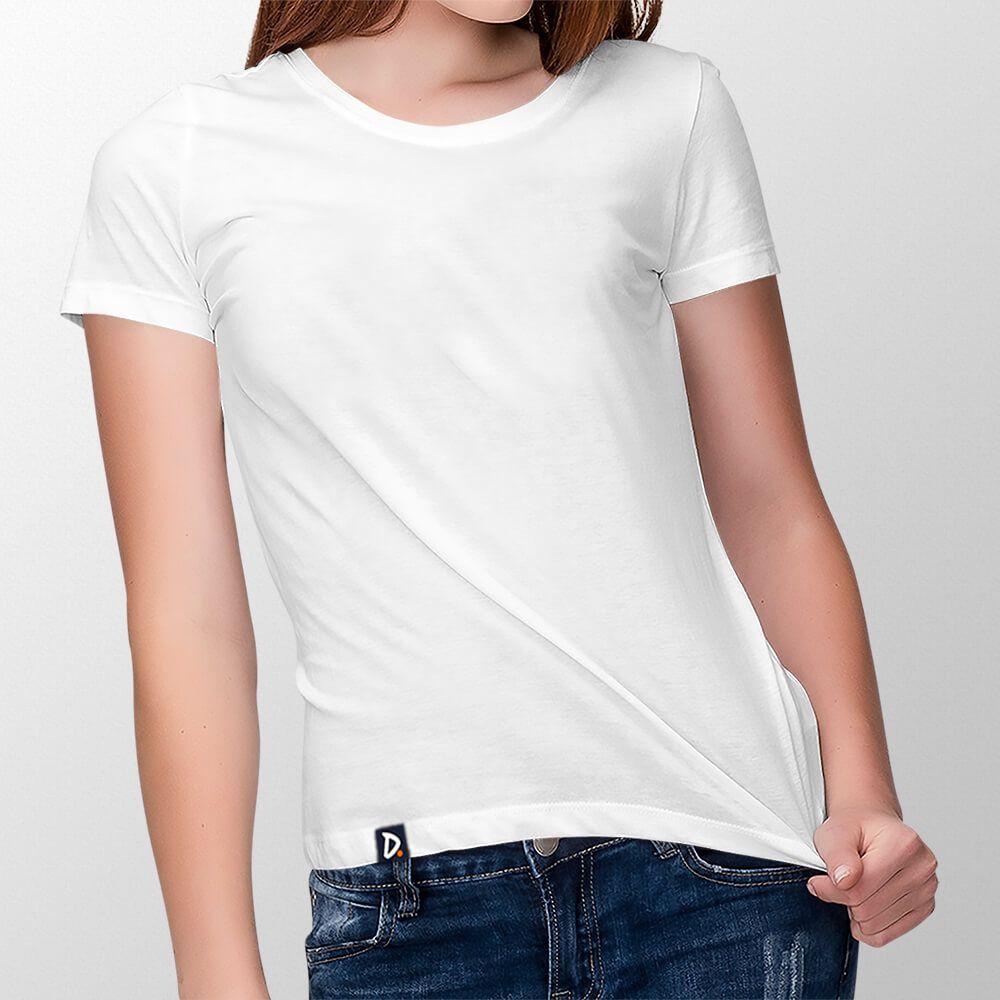 Camiseta Básica Branca - Feminino