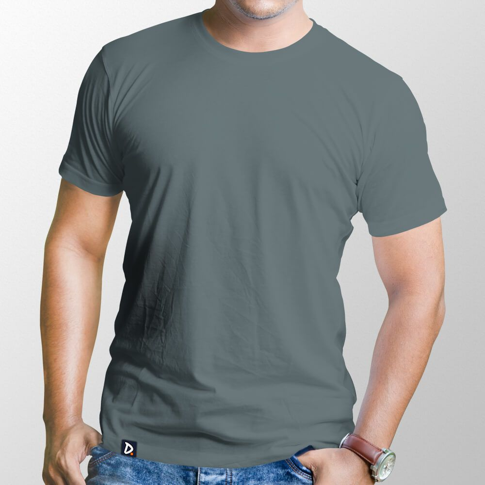 Camiseta Básica Chumbo - Masculino