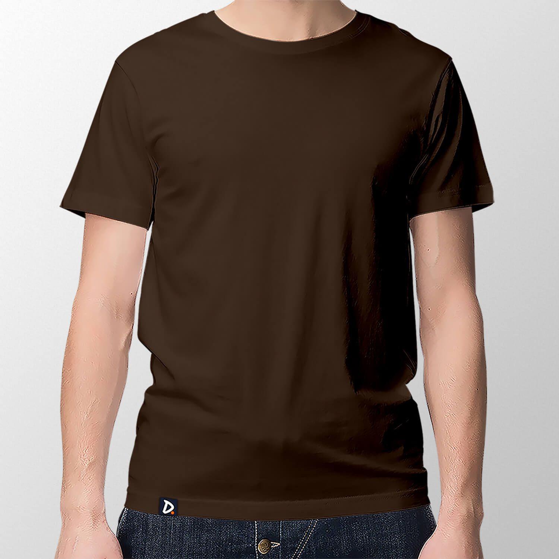 6cf9af076d Camiseta Básica Marrom - Masculino - Doppel Store