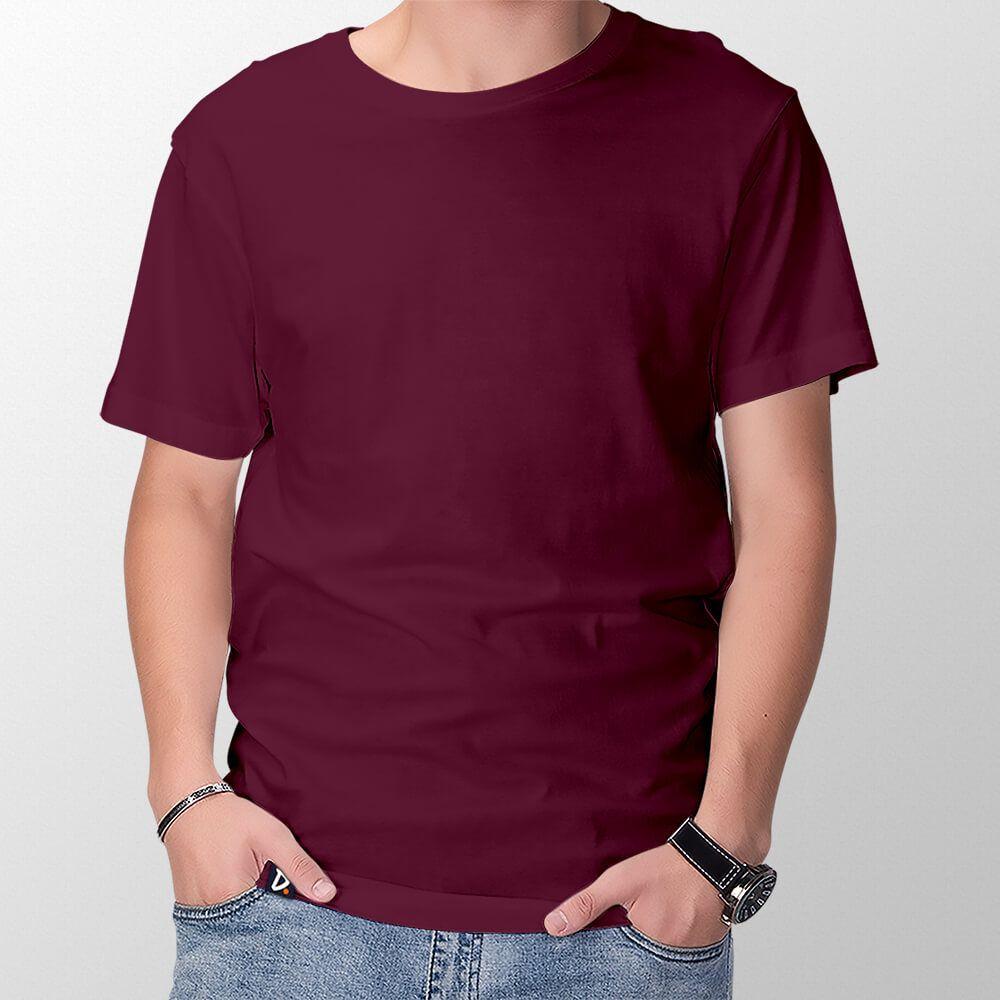 Camiseta Básica Vinho - Masculino