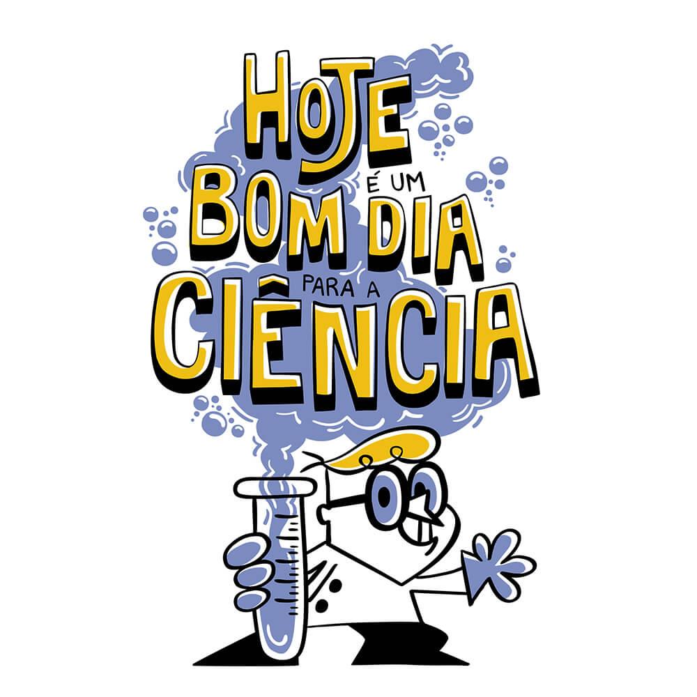 Camiseta Bom Dia Ciência - Masculino