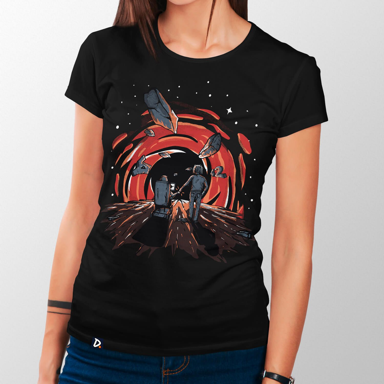 Camiseta Buraco Negro - Feminino