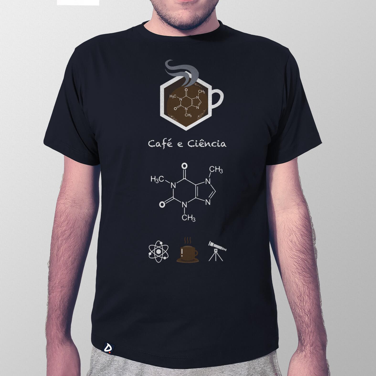 Camiseta Café e Ciência