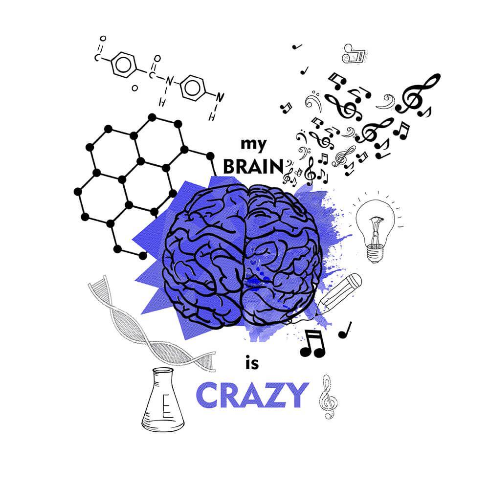 Camiseta Cerebro - Masculino