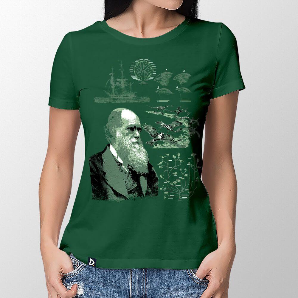 Camiseta Charles Darwin - Feminino