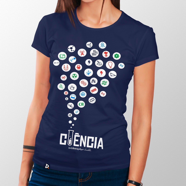 Camiseta Ciência - Feminino