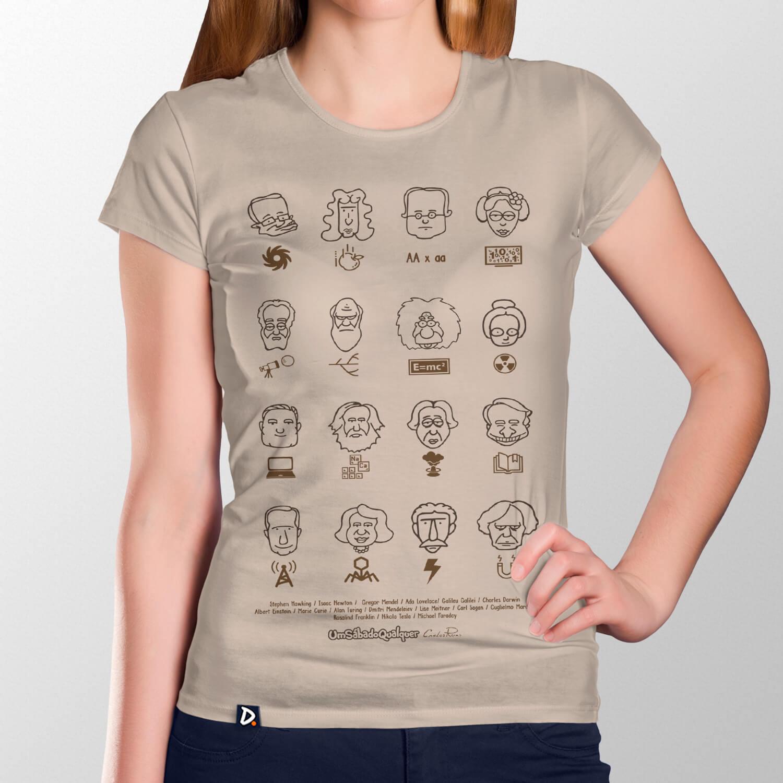Camiseta Cientistas - Feminino