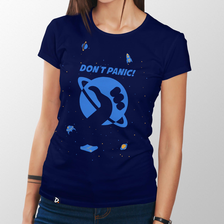 Camiseta Don't Panic - Feminino