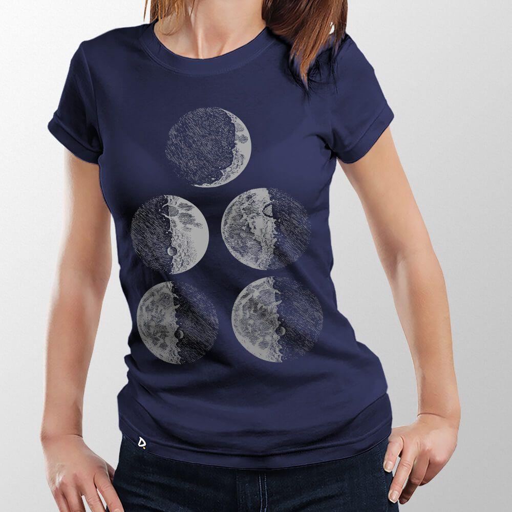 Camiseta Fases da Lua - Feminino