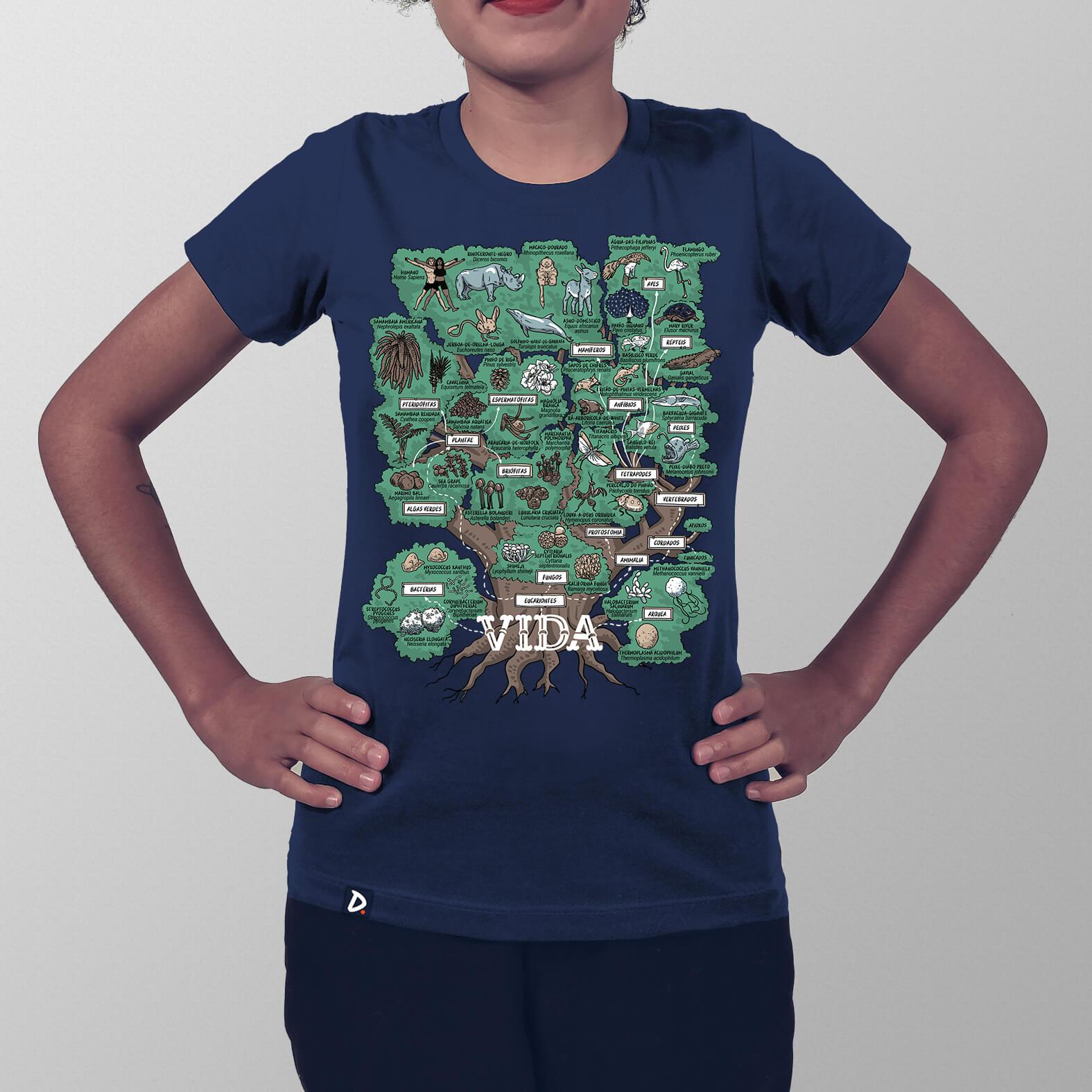 Camiseta Feminina Árvore da Vida