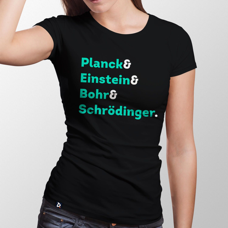 Camiseta Físicos Quanticos - Feminino