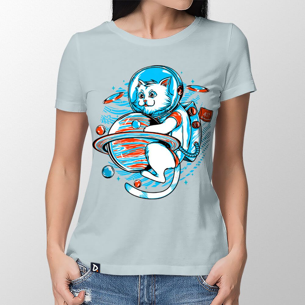 Camiseta Gatonauta - Feminino
