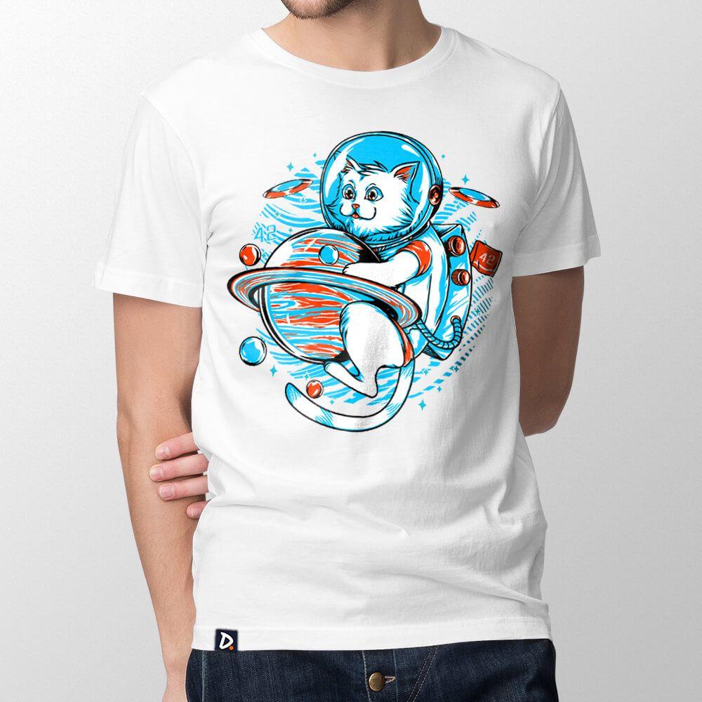 Camiseta Gatonauta - Masculino