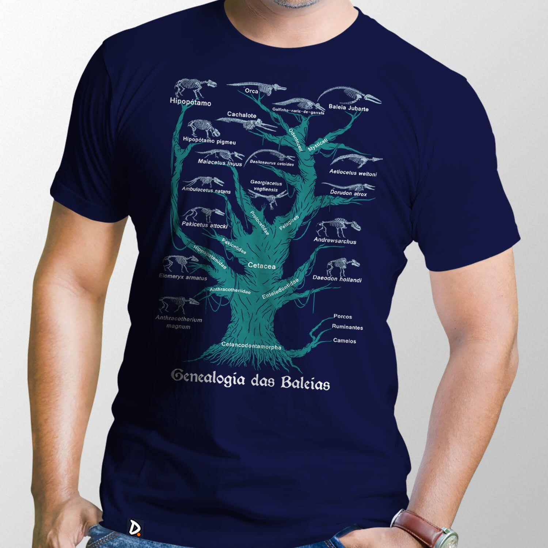 Camiseta Genealogia das Baleias Combo