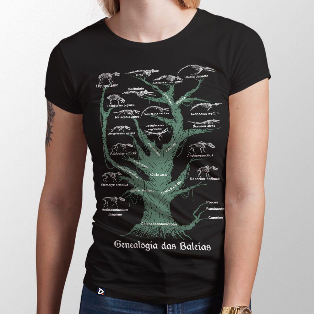 Camiseta Genealogia das Baleias - Feminino