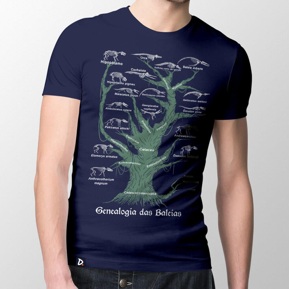Camiseta Genealogia das Baleias - Masculino